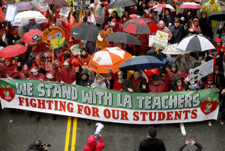 Los Angeles Teachers Go On Strike