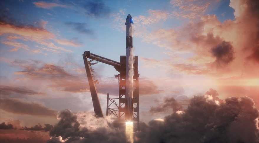 SpaceX+Crew+Dragon+Test+Flight+is+a+Success