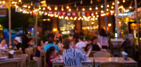 Is it safe enough to eat out at restaurants with friends?